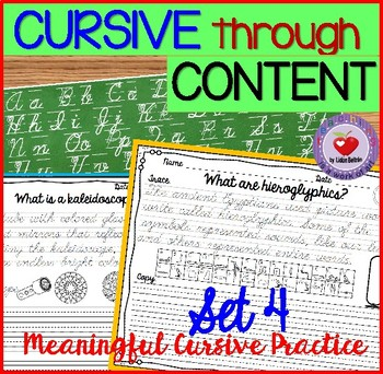 Cursive Handwriting Practice- Set 4