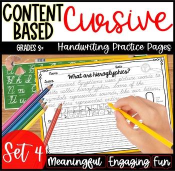 Cursive Handwriting Practice- Set 4