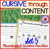 Cursive Handwriting Practice- Set 5