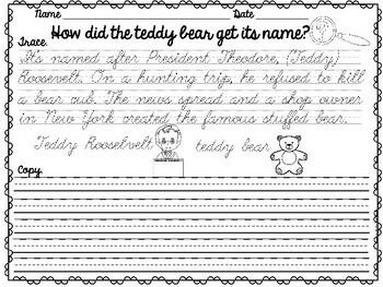 Cursive Handwriting Practice- Set 5