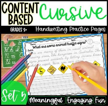 Cursive Handwriting Practice- Set 5 DISTANCE LEARNING
