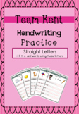 Cursive Handwriting Practice - Straight Letters