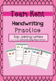 Cursive Handwriting Practice - Top Joining Letters