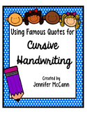 Cursive Handwriting Practice Using Motivational Quotes