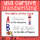 Cursive Handwriting Practice Worksheets - USA