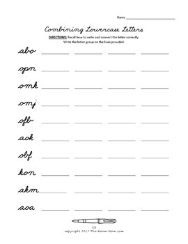Cursive Handwriting (difficult lowercase letters)