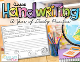 Cursive Handwriting Practice for the Entire Year