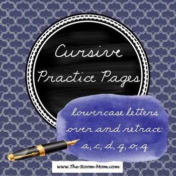 Cursive Handwriting (lowercase letters over and retrace)