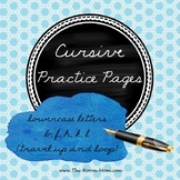 Cursive Handwriting Practice Worksheets (lowercase letters