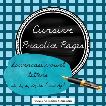 Cursive Handwriting (lowercase vowel letters)