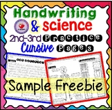Cursive Handwriting Practice with Science Passages- FREEBIE