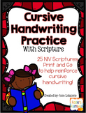 Cursive Handwriting Practice with Scriptures