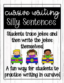 Cursive Handwriting: Silly Sentences