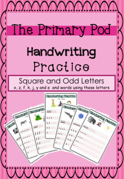 Cursive Handwriting - Square and Odd letters