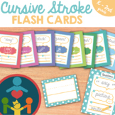 Cursive Handwriting Practice : Stroke Flash Cards for Kind