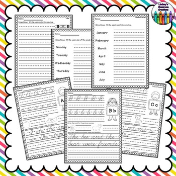 Cursive Handwriting Practice ~ Upper & Lowercase, Sentences, & More!