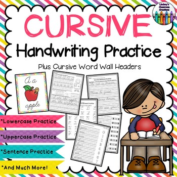 Cursive Handwriting ~ Upper & Lowercase, Sentences, Months