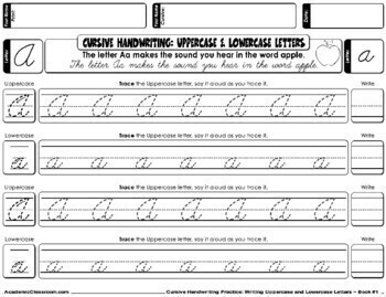 Cursive Handwriting Uppercase & Lowercase Letters Daily Practice {NO PREP}