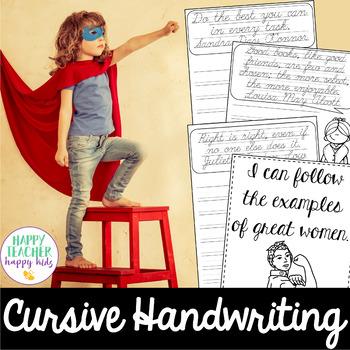 Cursive Handwriting - Women's History