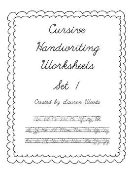 Cursive Handwriting Worksheets