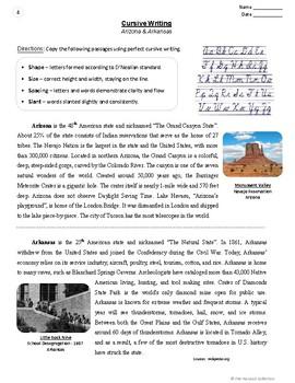 Cursive Handwriting Worksheets   54 Printable Prompts (Grades 3-7)