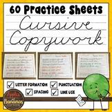 Cursive Handwriting Worksheets - 60 Days of Cursive Copywork Practice