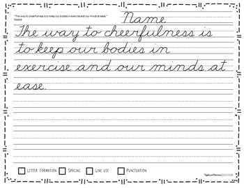 Cursive Handwriting Worksheets - 60 Days of Cursive Copywork Practice