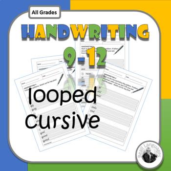 Cursive Handwriting Worksheets (9-12)