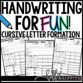Cursive Handwriting for FUN! Unit 1: Letter Formation