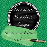 Cursive Handwriting Practice Worksheets (letters with an e