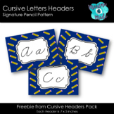 Cursive Header - Pencil Design