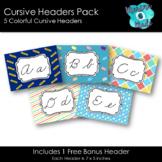 Cursive Headers Pack