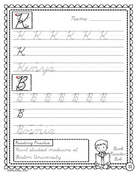 Cursive Handwriting Introduction