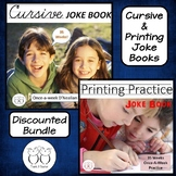 Cursive Joke Book & Printing Joke Book Bundle Distance Learning