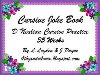 Cursive : Jokes, Limericks and Tongue Twister (3 pack) 35