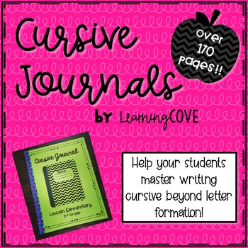 Cursive Journal - Over 170 pages! Alphabet, prompts, words, journal pages!