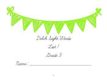 Cursive Lessons using 3rd grade Dolch Sight Words: List 1