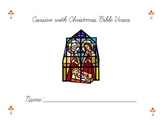 Cursive Lessons with Christmas Bible Verses
