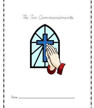 Cursive Lessons with The Ten Commandments