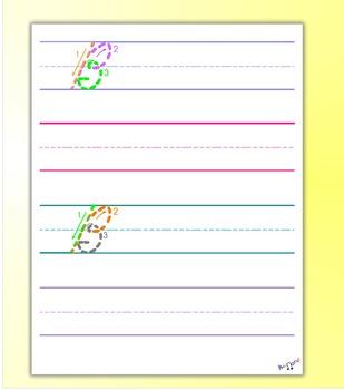 Penmanship Practice - Cursive B