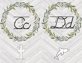 Cursive Letter Cards - Farmhouse Gray
