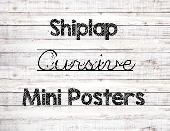 Cursive Letter Cards - Farmhouse Shiplap