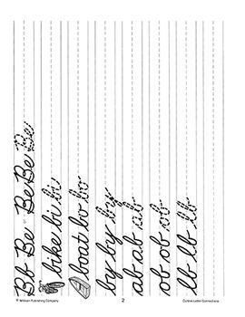 Cursive Letter Connections