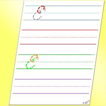 Alphabet in Cursive - Cursive E