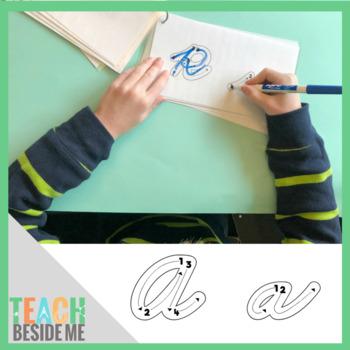 Cursive Letter Formation Cards