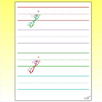 cursive letters cursive j by kidznote teachers pay teachers