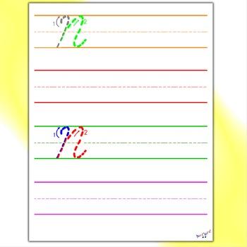 Cursive Practice - Cursive N