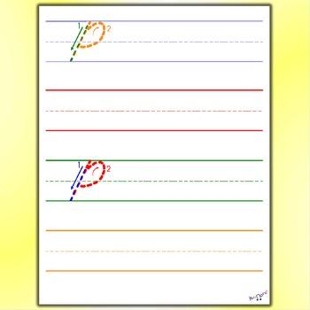 Penmanship - Cursive P