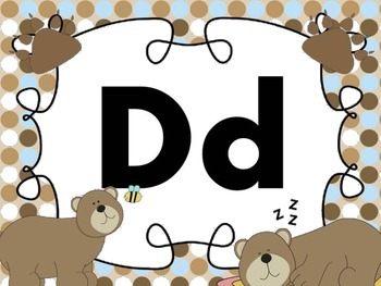 Print Letter Posters - Bear Theme