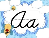 Cursive Letter Posters - Bee Theme